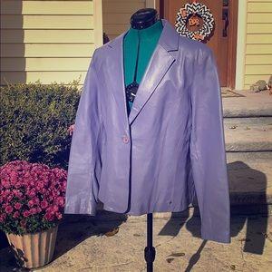 Lavender leather blazer XL